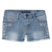 Vigoss® Twinkle Flower Denim Shorts - Girls 7-14