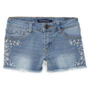 Vigoss® Twinkle Flower Denim Shorts - Girls 7-14