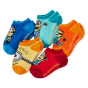 Minion 5-pk. No-Show Socks - Boys