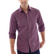 Claiborne® Long-Sleeve Wide-Stripe Woven Shirt
