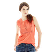 Joe Fresh™ Eyelet Tank Top
