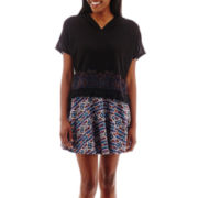Olsenboye® Faux-Embroidered Poncho or Aztec Print Skater Skirt