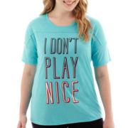 City Streets® Short-Sleeve Graphic T-Shirt - Plus
