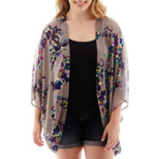 Arizona Short-Sleeve Print Kimono - Plus