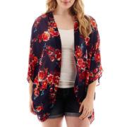 Arizona Woven Print Kimono - Plus