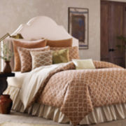 BiniChic Terracotta Quatrefoil 4-pc. Jacquard Comforter Set & Accessories
