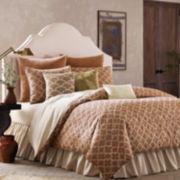 BiniChic Terracotta Quatrefoil 4-pc. Jacquard Comforter Set