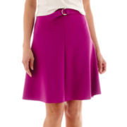 Worthington® Split A-Line Skirt with Belt