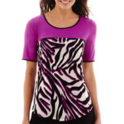 Worthington® Short-Sleeve Colorblock Top