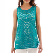 Worthington® Burnout Tank Top