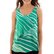 Worthington® Sleeveless Tiered Top