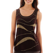 Worthington® Sleeveless Embellished Top