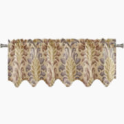 Richloom Couture Rod-Pocket Scalloped Valance