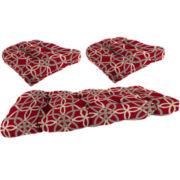 3-pc. Wicker Cushion Set