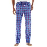 Stafford® Plaid Woven Pajama Pants–Big & Tall