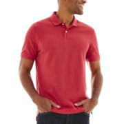 St. John's Bay® Heathered Legacy Piqué Polo