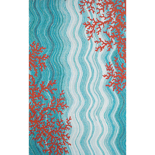 Liora Manne Visions Iv Coral Reef Rectangular Rugs