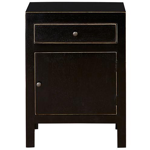 Pulaski Furniture  Black And Gold Rubbed Accent Chest