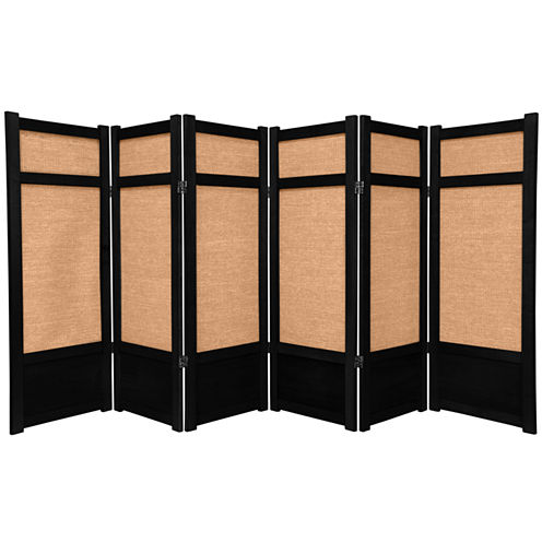 Oriental Furniture 4' Jute Shoji 6 Panel Room Divider
