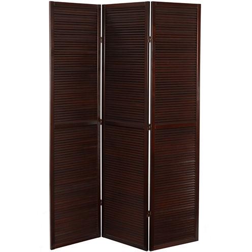 Oriental Furniture 6' Double Venetian 3 Panel RoomDivider