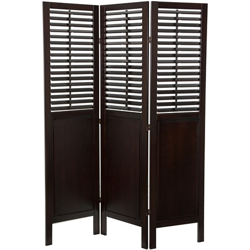 Oriental Furniture 6' Dutch Shutter 3 Panel Room Divider