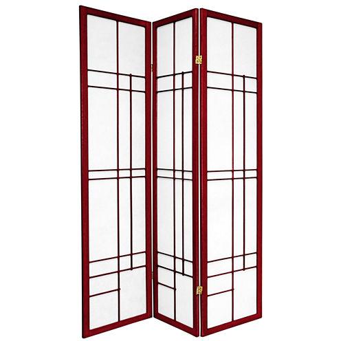 Oriental Furniture 6' Eudes Shoji 3 Panel Room Divider