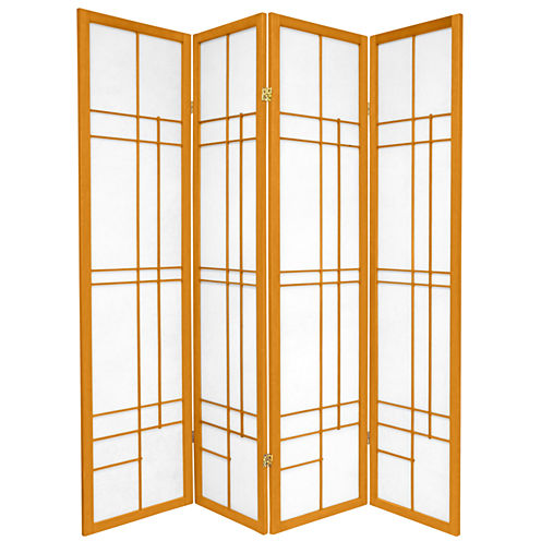 Oriental Furniture 6' Eudes Shoji 4 Panel Room Divider