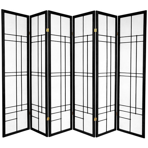 Oriental Furniture 6' Eudes Shoji 6 Panel Room Divider