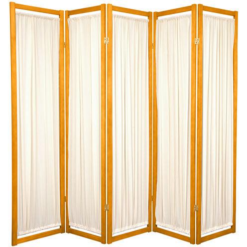 Oriental Furniture 6' Helsinki Shoji 5 Panel RoomDivider