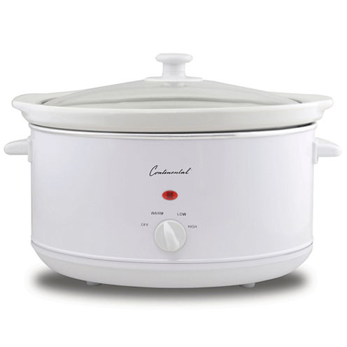 Continental Electric 4-Quart Oval Slow Cooker