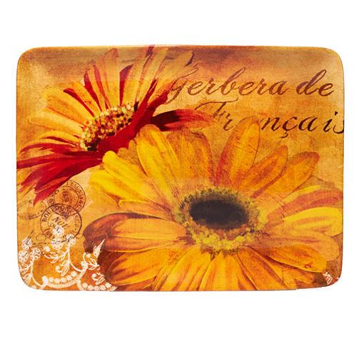 Certified International Gerber Daisy Serving Platter