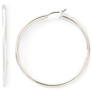 jcpenney.com | Monet® Silver-Tone Thin Large Hoop Earrings