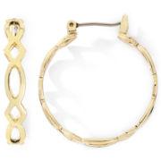 Monet® Gold-Tone Medium Woven Hoop Earrings