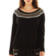 Olsenboye® Jewel-Neck Sweatshirt
