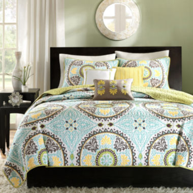 jcpenney.com | Madison Park Bali 6-pc. Medallion Coverlet Set