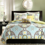 Madison Park Bali 6-pc. Medallion Coverlet Set