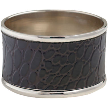 jcpenney.com | Set of 4 Black Crocodile Napkin Rings