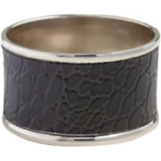 4-pc. Black Crocodile Napkin Ring Set
