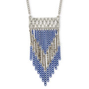 Arizona Silver-Tone Aztec Link Necklace