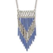 Arizona Silver-Tone Aztec Link Necklace