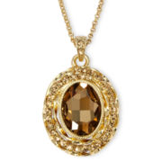 Monet® Gold-Tone Brown Pendant