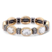 Monet® Two-Tone Crystal Oval Stretch Bracelet