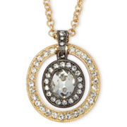 Monet® Two-Tone Crystal Pendant Necklace