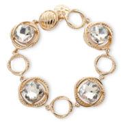 Monet® Gold-Tone Crystal Flex Bracelet
