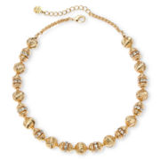 Monet® Gold-Tone Crystal and Metal Bead Collar Necklace