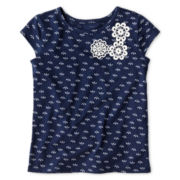 Arizona Embroidered Short-Sleeve Tee - Girls 2t-6