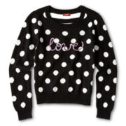 Arizona Dot Sequin Sweater - Girls 6-16 and Plus