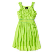 by&by Girl Sleeveless Cascade Front Dress – Girls 7-16