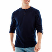 St. John's Bay® Long-Sleeve Thermal Henley
