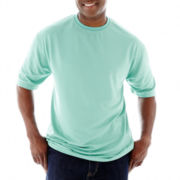 D'Amante Textured Horizontal-Stripe Tee–Big & Tall